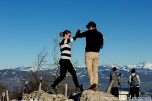 Shooting couple au Mont Salève