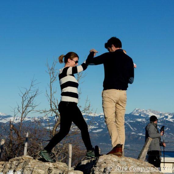 Shooting couple au Mont Salève